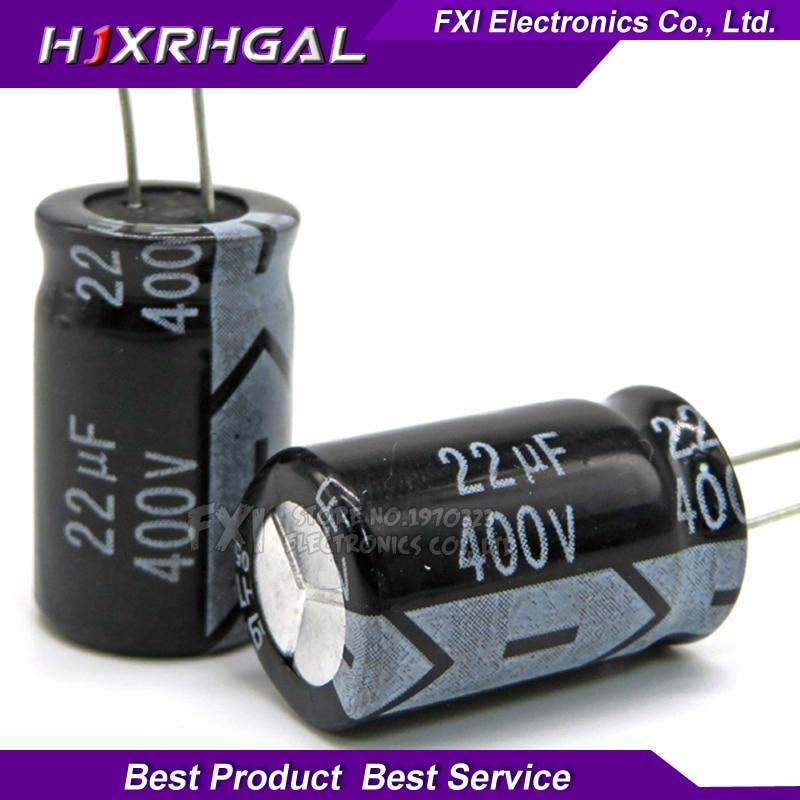 10PCS  400V22UF 13*20mm 22UF 400V 13*20 Electrolytic capacitor New original