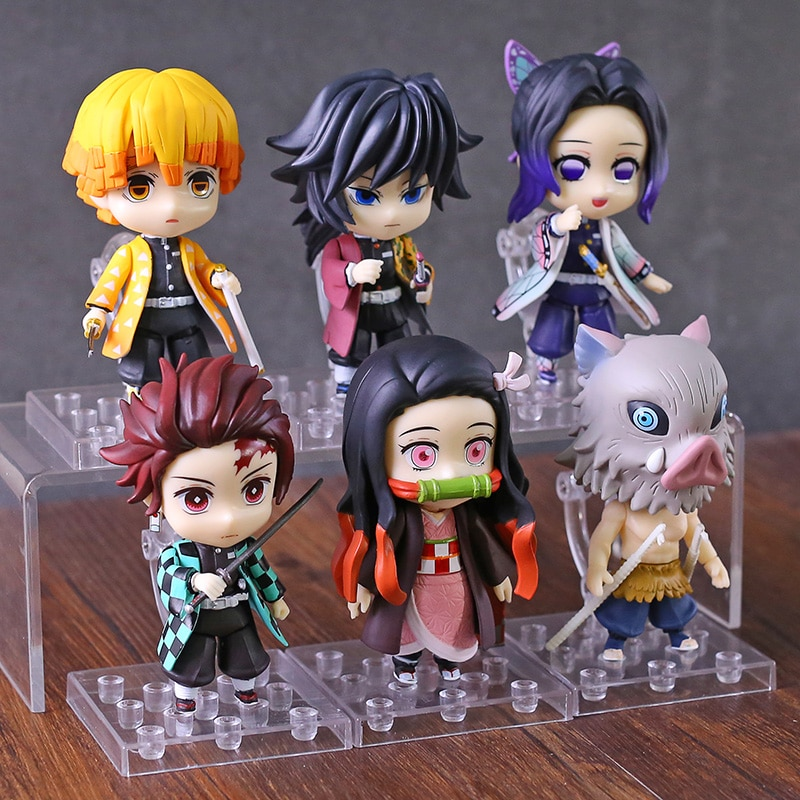 Anime 1/10 Scale Painted Figure Demon Slayer Kamado Tanjirou Nezuko Agatsuma Zenitsu Kochou Shinobu Mini Action PVC Figu