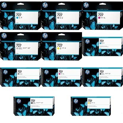 หมึกปริ้นเตอร์ HP 727 DesignJet Ink Cartridge,(B3P19A, 20A, 21A, 23A, 24A), (F9J76A,77A,78A,79A,80A), C1Q12A