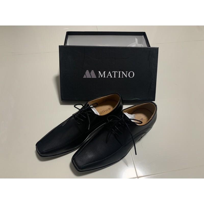 MATINO รองเท้าคัชชูผู้ชาย รุ่น MC/B 5536M สีดำ ผูกเชือก