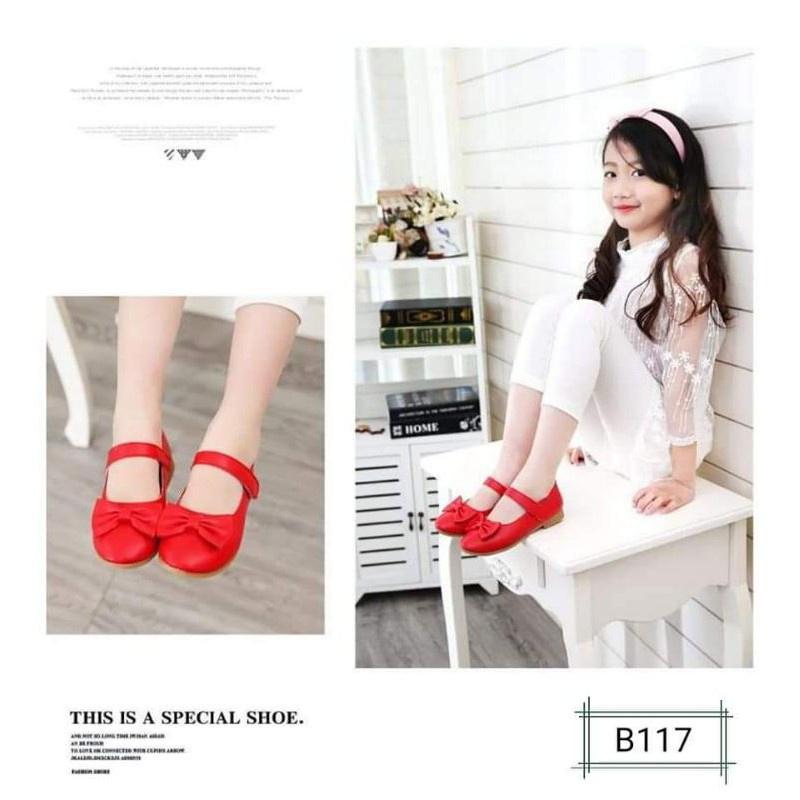 ✅🔥💥✓❃●รองเท้าคัชชูเด็ก B117 รองเท้าออกงาน เด็กหญิง 21-32 พร้อมส่งจากไทย