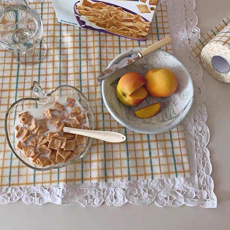 สไตล์เกาหลีผ้าเช็ดทำความสะอาดผ้าเช็ดโต๊ะผ้าปูโต๊ะผ้าเช็ดจานอุปกรณ์ทำความสะอาด