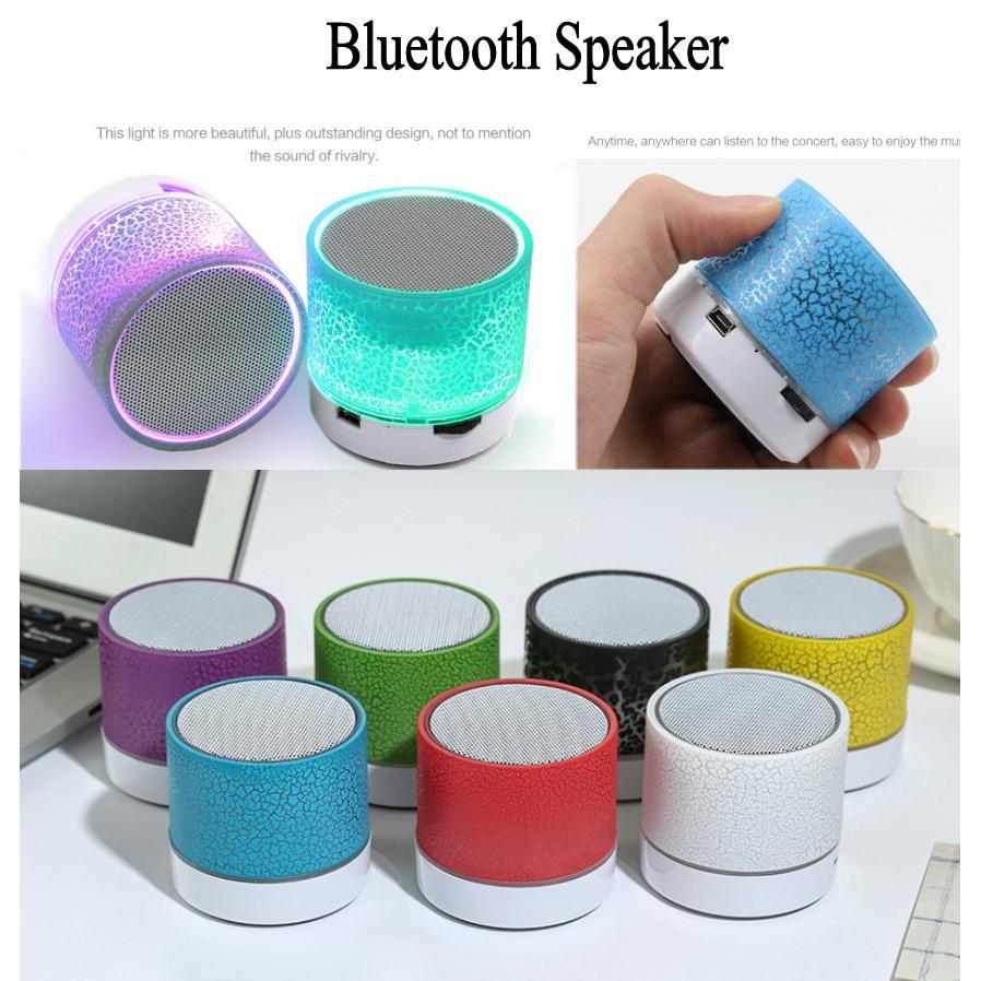 Luminous Lights Rechargeable Wireless Bluetooth Speaker Portable Mini Super Bass