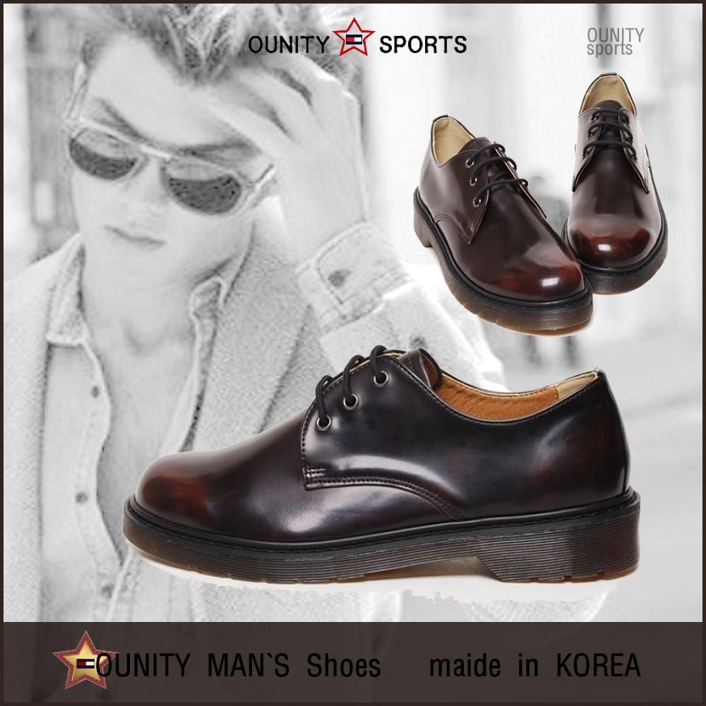 รองเท้าคัชชูหนัง แบบผูกเชือก สไตล์เกาหลี สำหรับผู้ชาย 4 ซม. Best. YM폭스4cm