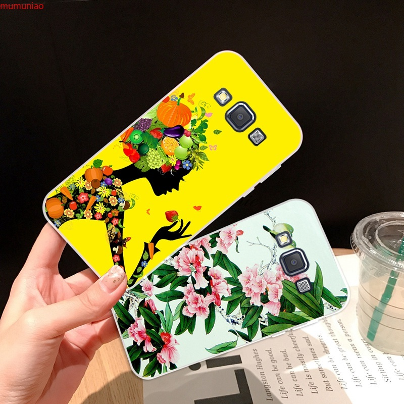 Samsung A3 A5 A6 A7 A8 A9 Star Pro Plus E5 E7 2016 2017 2018 Flower Soft Silicon TPU Case Cover