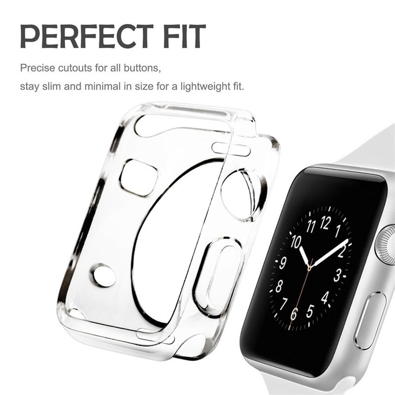 Case For Apple Watch Series se 6 5 4 3 2 1 38MM 42MM 44MM 40MM iWatch Transparent Clear Soft Protector Cover