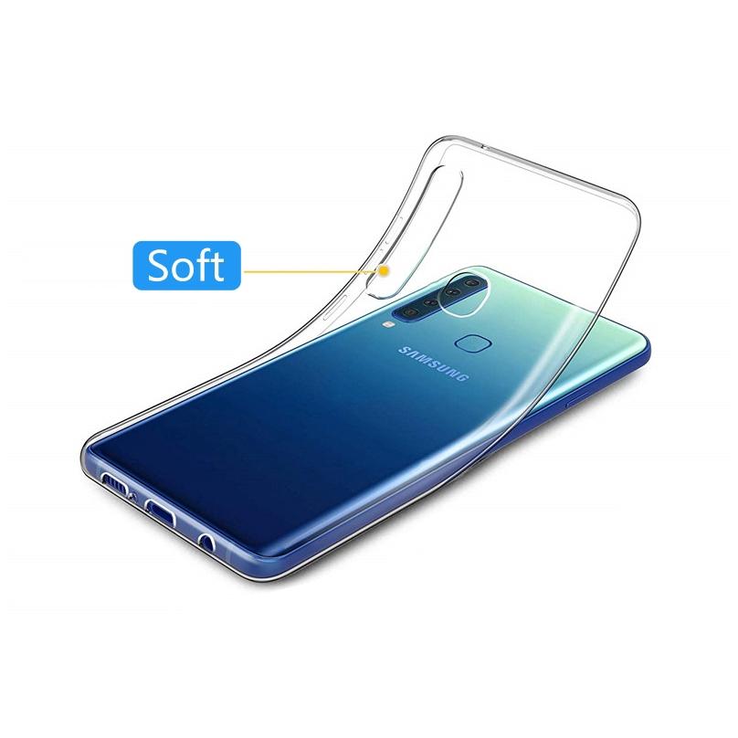 HD Clear ShockProof case for Samsung Galaxy A2 Core A9 Pro 2019 A8 A6 Plus A7 A6 2018 A8S A6S เคสอัลตร้าบางใสซิลิโคน TPU เคสกันกระแทกฝาครอบโปร่งใสกลับเชลล