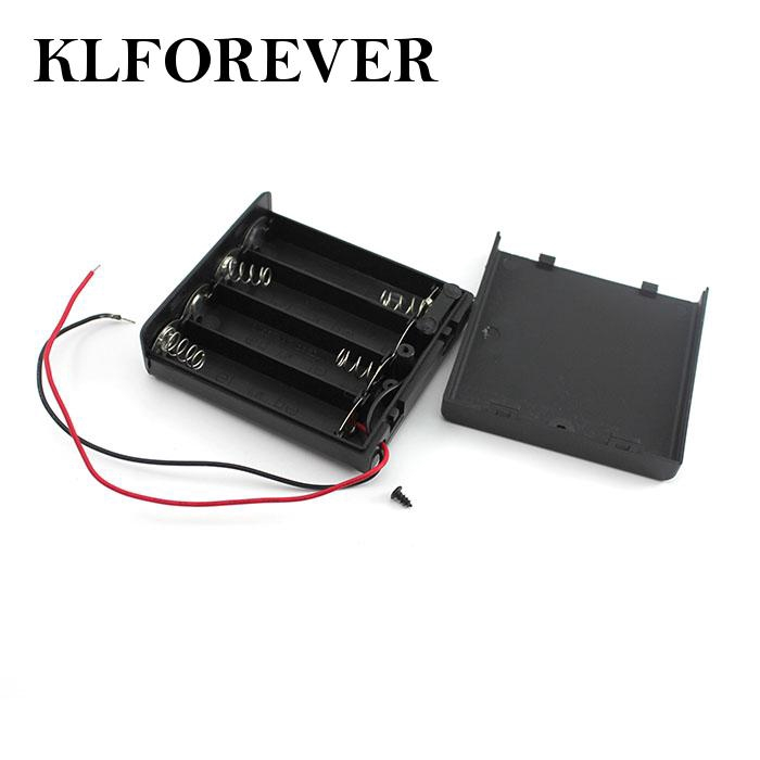 Plastic Battery Holders Storage Box Cases For 4 x 1.5V Battery Perfekt