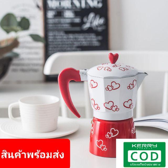 มอคค่าพอท รุ่นอลูมิเนียม กาต้มกาแฟสดแบบพกพา หม้อต้มกาแฟแบบแรงดัน เครื่องชงกาแฟ เครื่องทำกาแฟสด เอสเปรสโซ่พอท