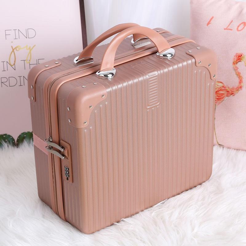 ✓♕✴กระเป๋าเดินทาง, กระเป๋าเดินทางใบเล็ก, กระเป๋าใส่เครื่องสำอางน่ารักสำหรับผู้หญิง, กระเป๋าเดินทาง 16 นิ้วขนาดเล็กและน้
