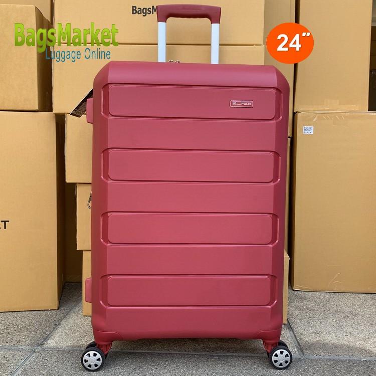 Bagsmarket Luggage กระเป๋าเดินทาง Romar Polo 24 นิ้ว ระบบรหัสล๊อค TSA 4 ล้อคู่ ซิปขยายได้ หมุนรอบ 360° Polypropylene รุ่