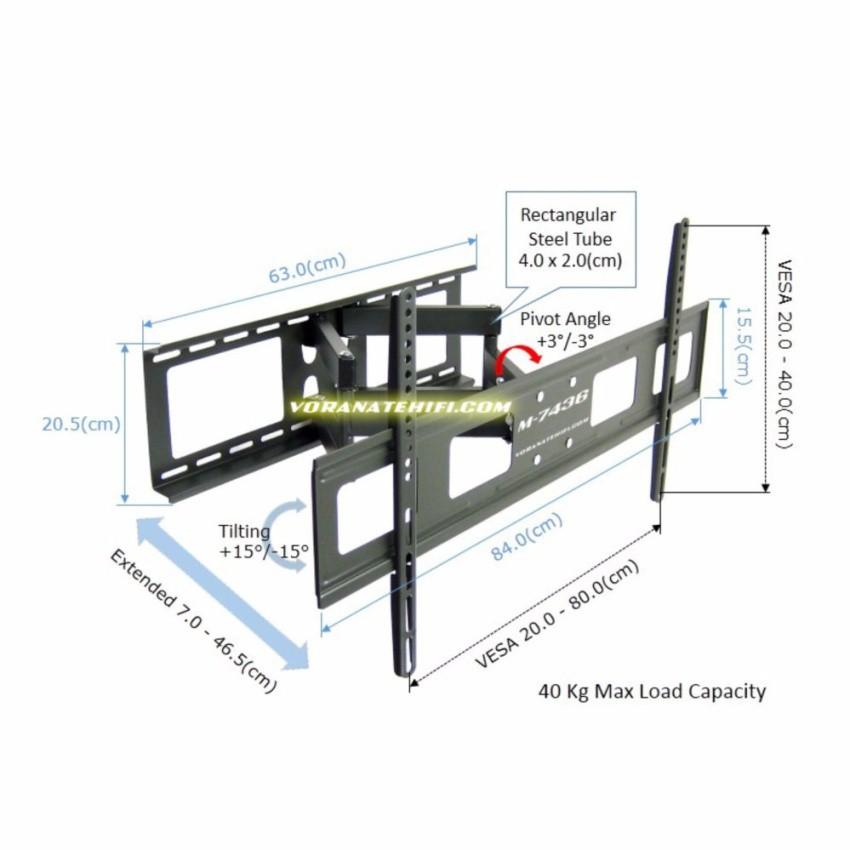 LCD LED Plasma Flat Tilt Fixed TV Wall Mount Bracket 42 46 50 55 57 60 70 79 84