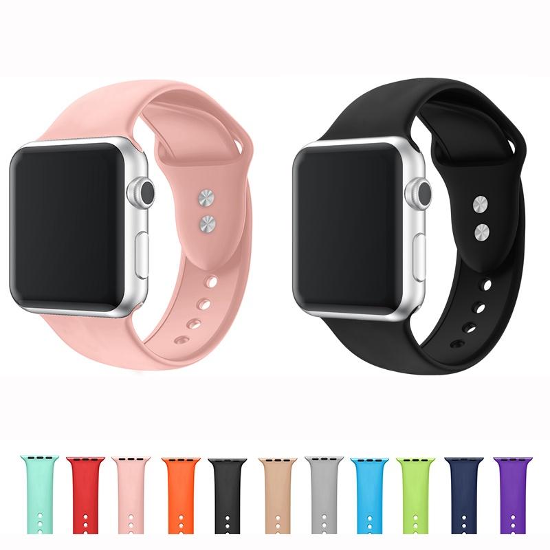สาย applewatch สายนาฬิกา applewatch Soft Silicone Apple Watch Strap Series 6 SE 5 4 3 2 1 Gen 38mm 40mm 42mm 44mm Rubber