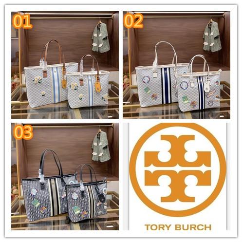 S Tory Burch Tb กระเป๋าสะพายไหล่กระเป๋าช็อปปิ้งสําหรับสตรี Tote Crossbody เหมาะกับการพกพาเดินทาง