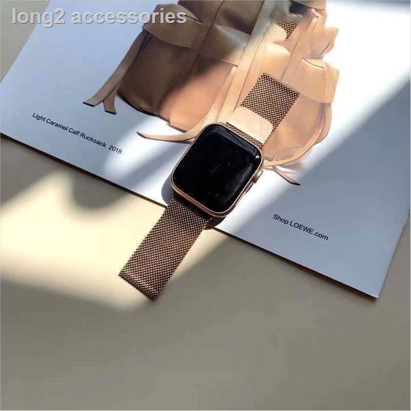 ❒✟สายเปลี่ยนนาฬิกาข้อมือ AppleWatch Band Milanese Loop Series 1 2 3 4 5 6 44 มม 40 มม 38 มม 42 มม สาย applewatch 6 se 4.