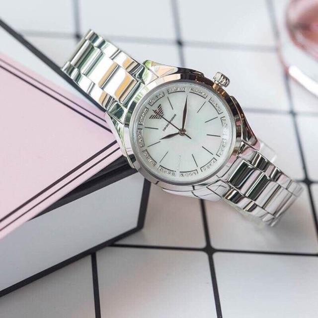 Emporio Armani AR11030  Valeria Steel Quartz Women's Watch