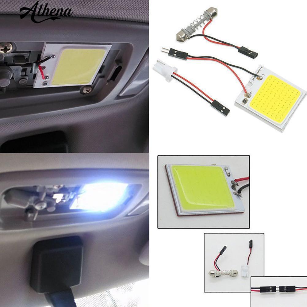 1Pc สีขาว 48 SMD ซัง LED T10 4W 12V แผงด้านในรถแผงหลอดไฟโดมแสง