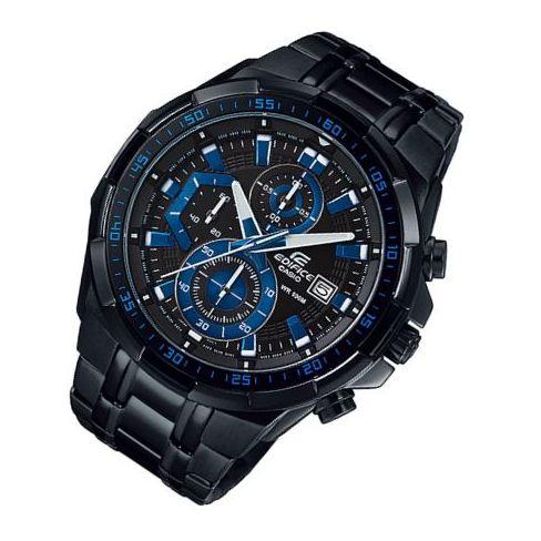 New Casio นาฬิกาข้อมือชาย สายสแตนเลส รุ่นEFR-539BK-1A2(Black/Blue)รับประกัน 1 ปี(ของแท้100% ประกันCMG) cZeA