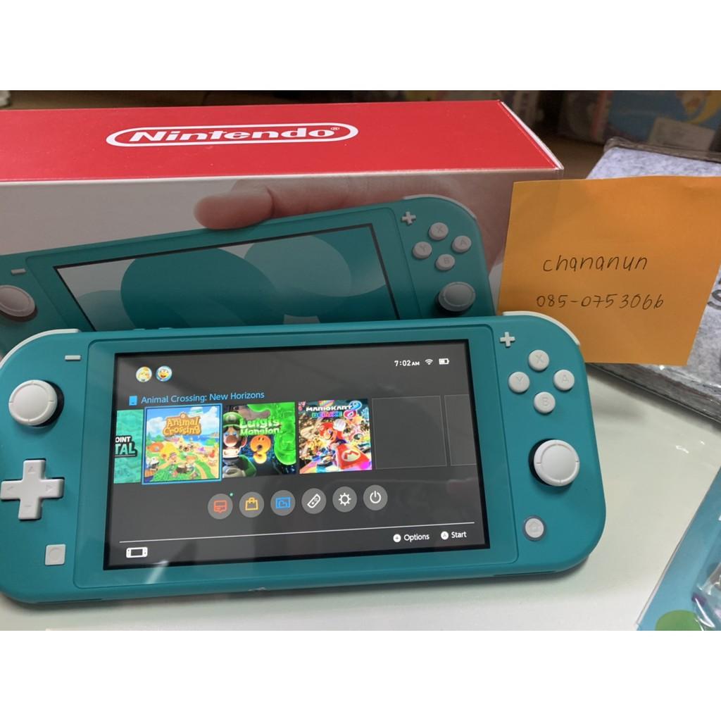 เครื่องNintendo Switch Lite Blue(มือสอง) +ประกันร้าน1ปี แถม เคสใส+ฟิล์มกันรอย+กระเป๋าใส่เครื่องเกม!!!