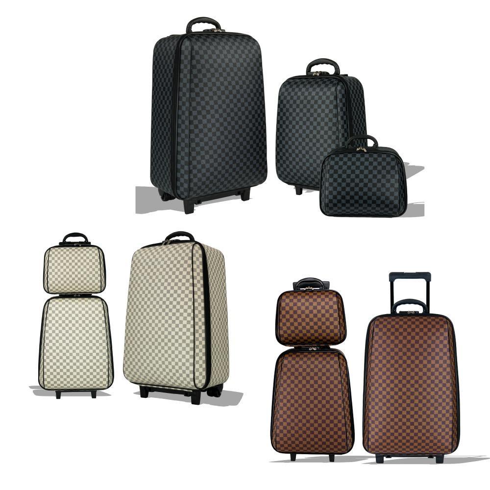 กระเป๋าถัก✢MZ Polo กระเป๋าเดินทาง ล้อลาก ระบบรหัสล๊อค เซ็ท 3 ใบ (24 +18 +14 ) นิ้ว รุ่น Luxury Set M009
