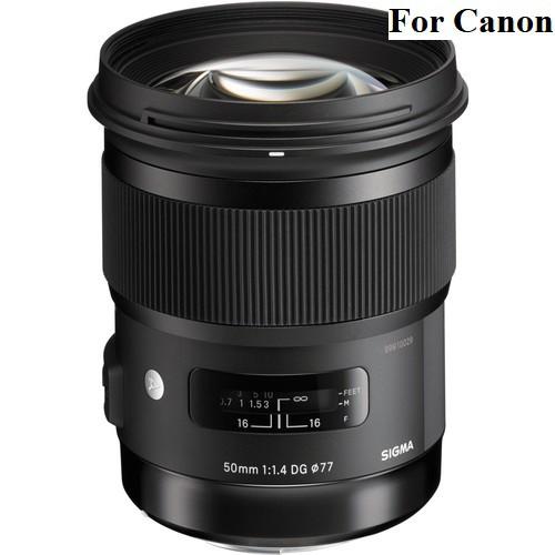 Sigma 50mm f/1.4 DG HSM Art Lens - [For Canon EF]
