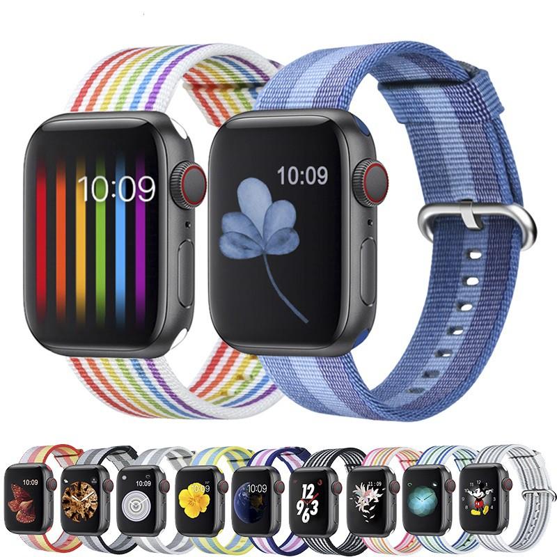 สายนาฬิกา Apple Watch Premium ไนลอน สาย applewatch Series 1/2/3/4/5/6, Apple Watch SE iwatch สายนาฬิกาข้อมือ size 38mm 4