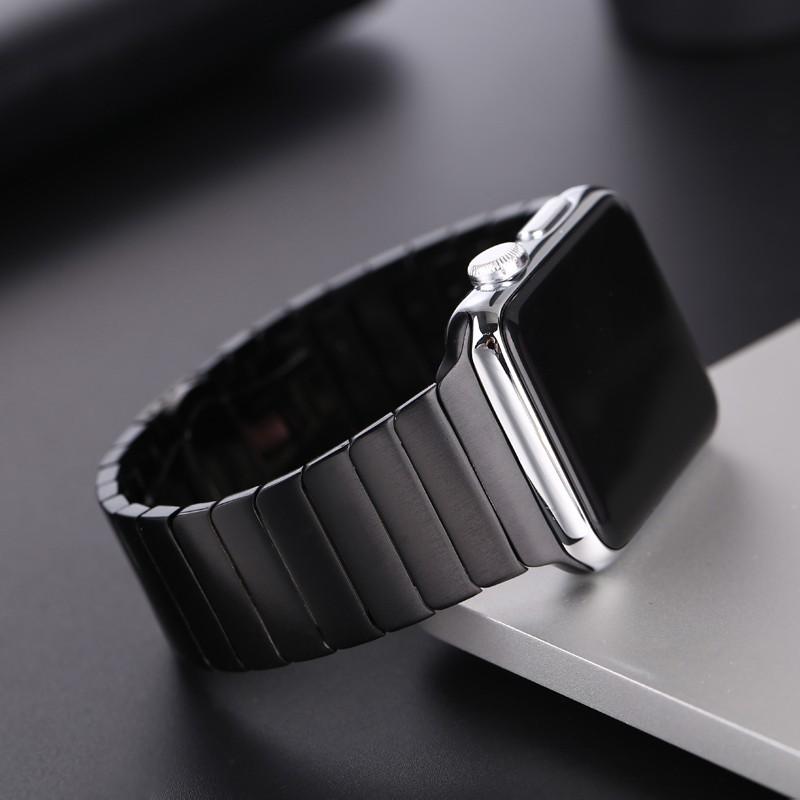 f189 Luxury สายนาฬิกา Apple Watch เหล็กกล้าไร้สนิม สาย Applewatch Series 6 5 4 3 2 1,  Apple Watch SE size 38mm 40mm 42m