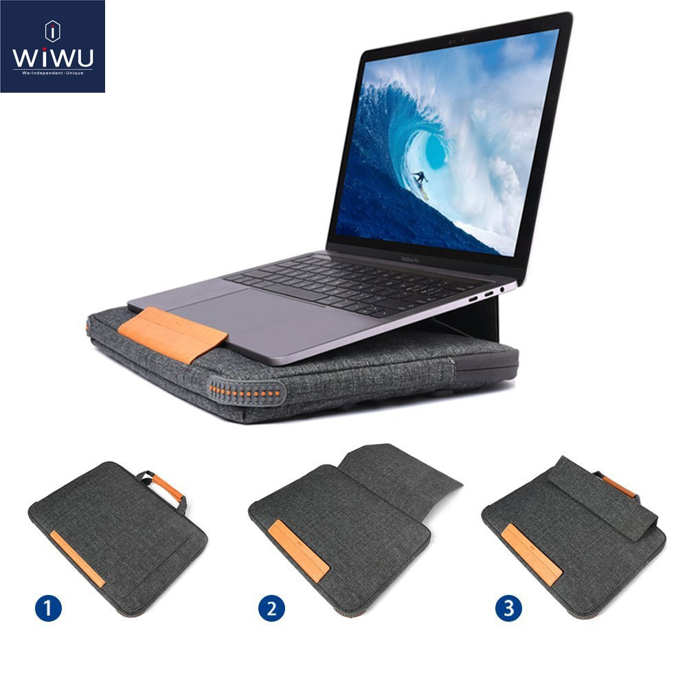 New Stand Laptop Bag Case for MacBook Pro 16 Portable Laptop Sleeve for MacBook Air Pro 13 15 Multi Pockets Notebook Bag 13 15