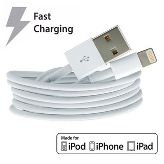 White Apple สายชาร์จ Lightning USB Data iPhone 5 5S 6 6S 7 7s 8 X Cable