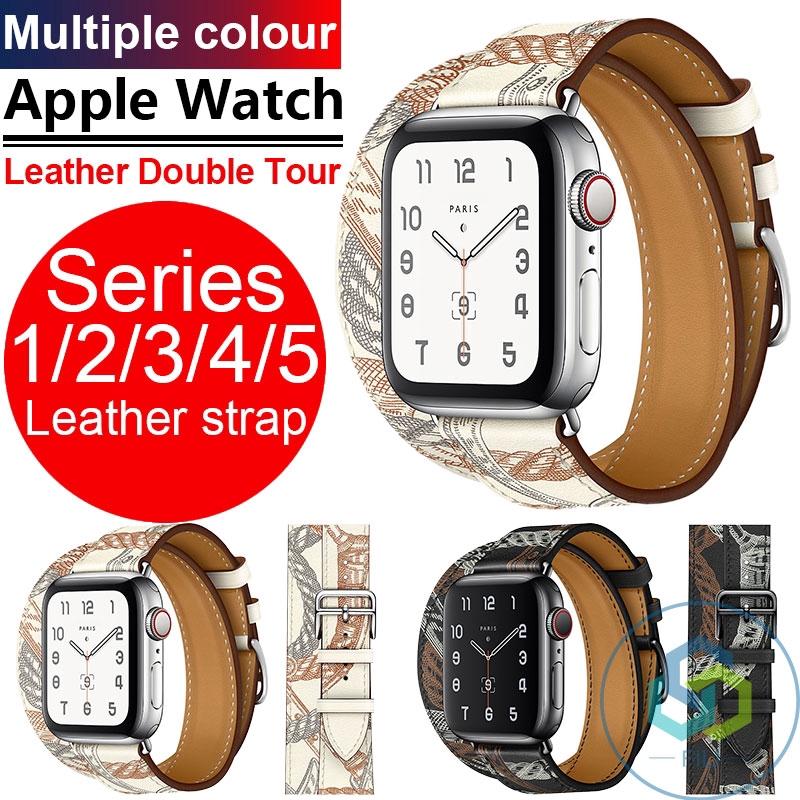 สายนาฬิกาข้อมือหนังสําหรับ applewatch series 12345 iwatch