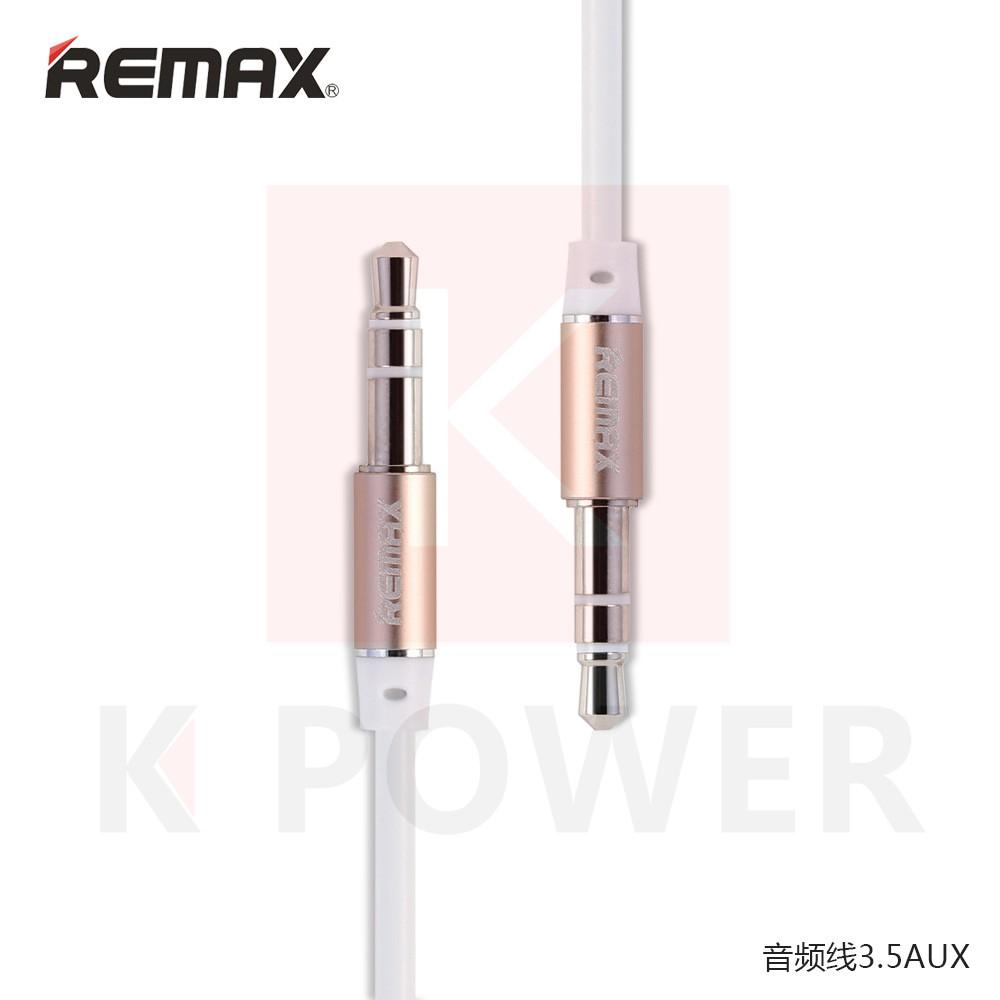 Remax สาย Audio RL-L100 / AUX Cable RL - L100 เสียบเชื่อมต่อกับตัวอุปกรณ์เครื่องเล่นหรืออุปกรณ์เครื่องเสียงอื่นๆ