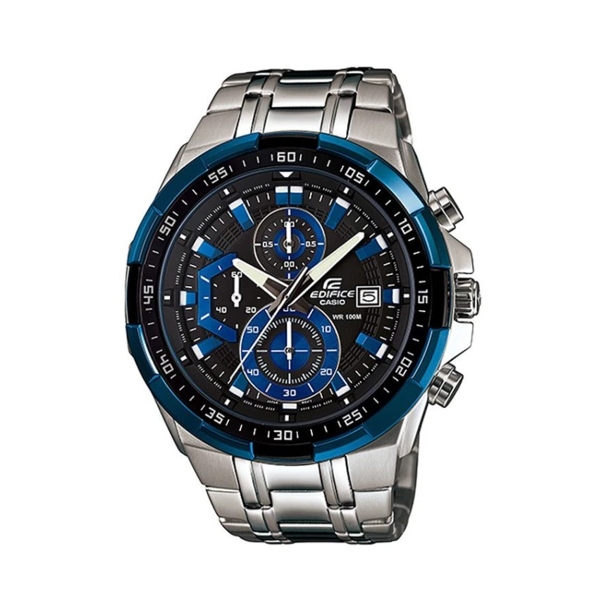 Casio Edifice นาฬิกาข้อมือผู้ชาย สายสแตนเลส รุ่น EFR-539D-1A2 - สีเงิน