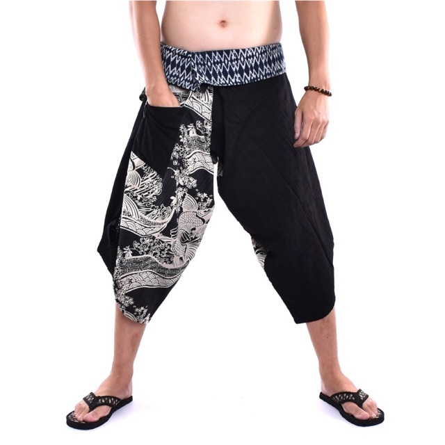 Samurai pants (tie) กางเกงซามูไรเอวผูก