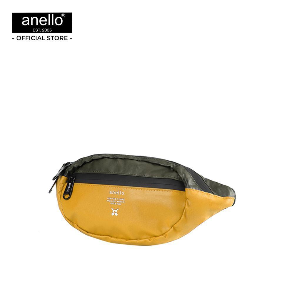 Anello กระเป๋าคาดเอว  REG W-Proof Waistbag_OS-N019 - YELLOW/KHAKI