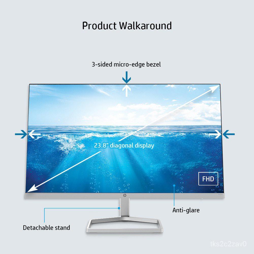 HP M24F Display Monitor / 23.8 FHD / IPS Display / 3 Sided Micro-Edge Bezel / 5ms GtG / 75 Hz / AMD FreeSync /Anti-Glare