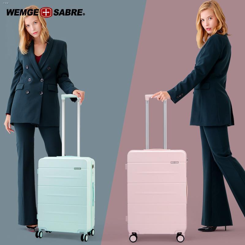 ✥❆กระเป๋าเดินทางมีดทหารสวิส กระเป๋าเดินทางชาย กระเป๋าเดินทางล้อลาก หญิง 24 นิ้ว กล่องรหัสผ่าน กระเป๋าเดินทาง 20 นิ้ว มีล