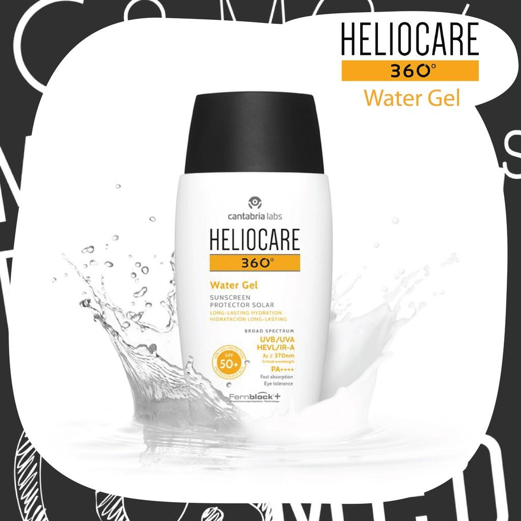 NEW!! ฉลากไทย Heliocare 360 Water Gel SPF50+ ปกป้องครบทุกรังสี กันน้ำ PM2.5 ไม่อุดตัน  watergel แท้ 100%