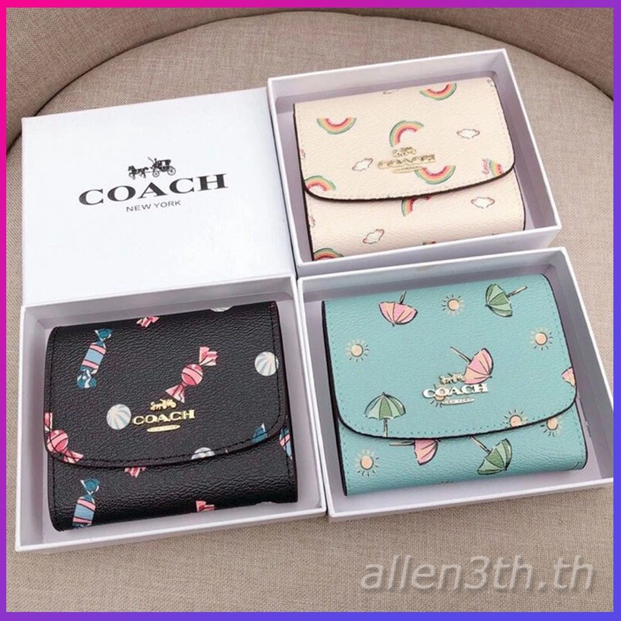 Coach แท้ F73479 กระเป๋าสตางค์ผู้หญิง * กระเป๋าเงิน * กระเป๋าตัง * กระเป๋าสตางค์ใบสั้น