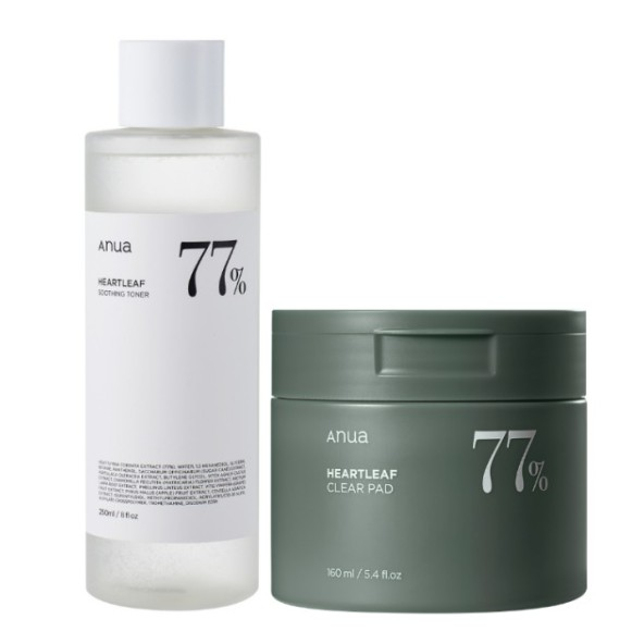 [anua] Heartleaf 77% Toner 250ml + Heartleaf 77% Pad 160ml 1 SET