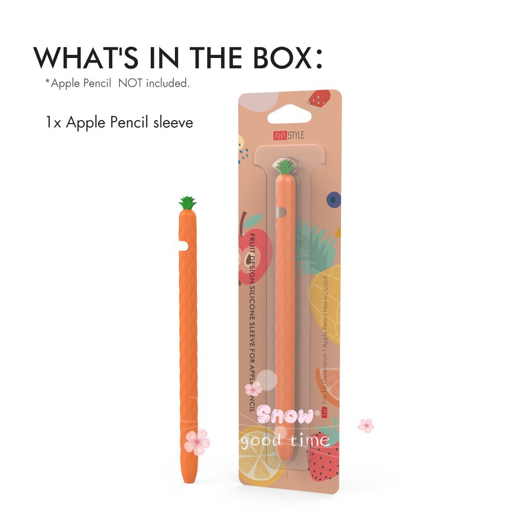 [[ใหม่ พร้อมส่งทุกสี !! ]] Apple Pencil 1/2 Case เคสปากกาสับปะรด เคสปากกาซิลิโคน รุ่นใหม่ บางกว่าเดิม ปลอกปากกาซิลิโคน เคสปากกา Apple Pencil