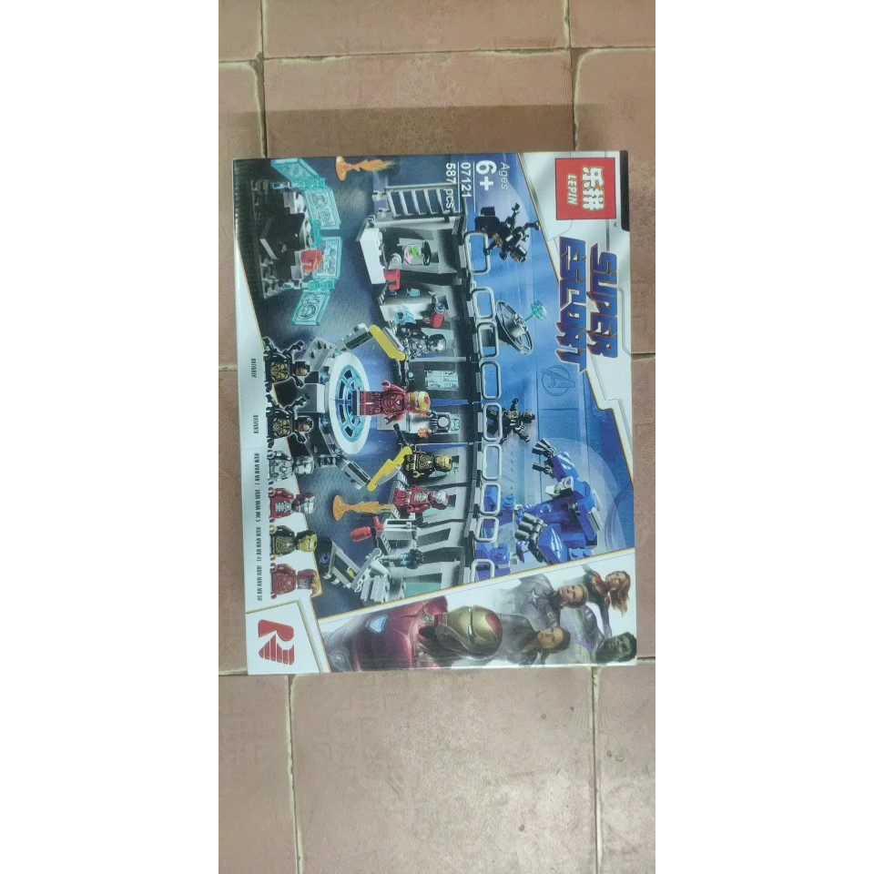 เข้ากันได้กับ LEGO Lego 07121 Building Block Superhero Series Marvel Avengers 4 Mecha Chen