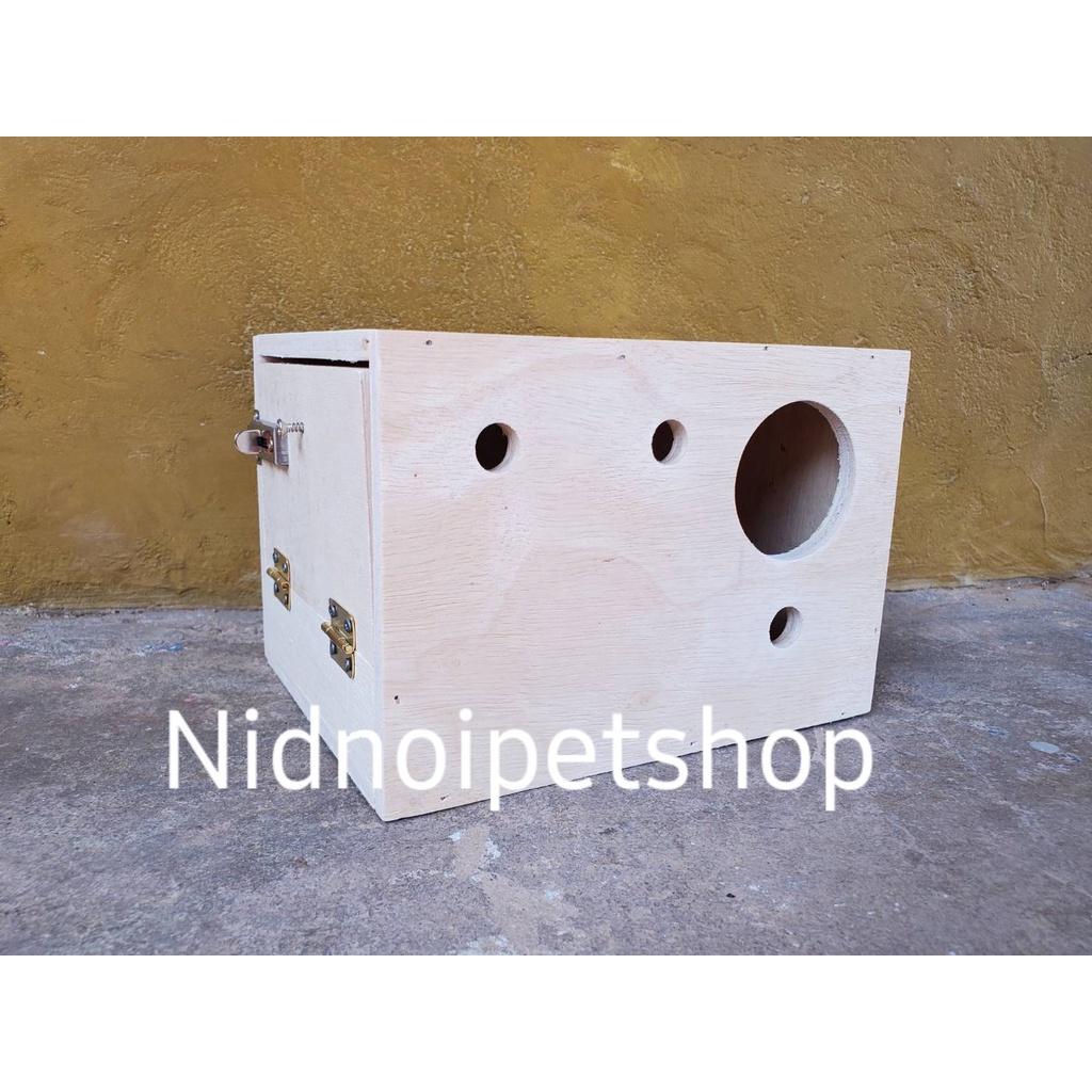 ❧กล่องเพาะนก(กล่องหงส์หยก )รังเพาะนก กล่องนอน บ้านนก หงส์หยก เลิฟเบิร์ด ค็อกคาเทล ฟอพัส ฟินซ์ ราคาโรงงานเลยจ้า