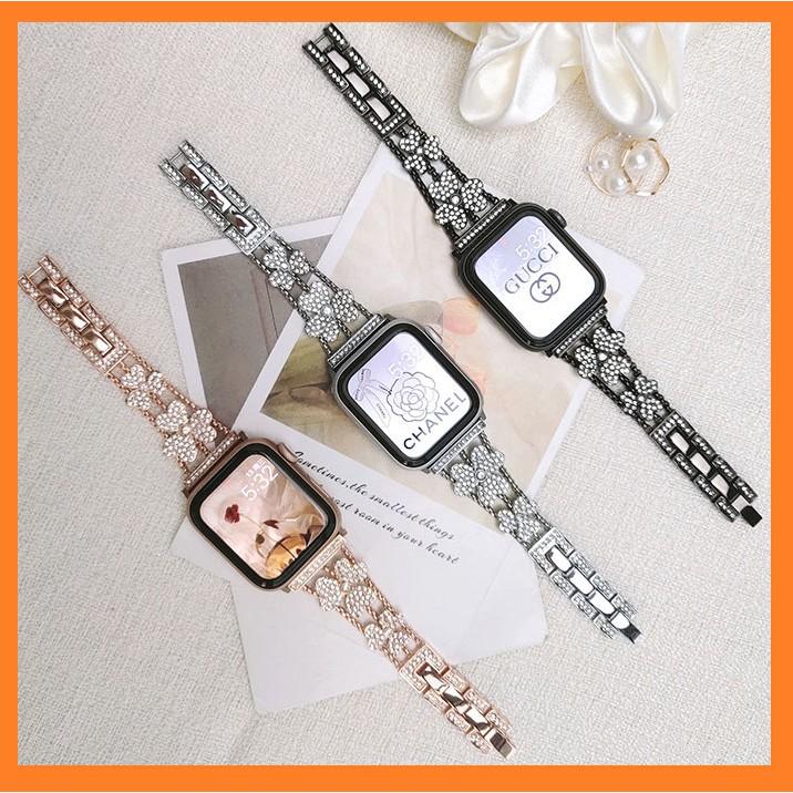 สาย applewatch+ เคส รูปสี่เหลี่ยมขนมเปียกปูน สายนาฬิกา applewatch Strap Diamonds Straps for Apple watch Series 1/2/3/4/5