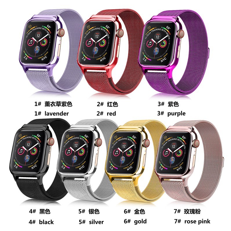apple 38mm เหล็กกล้าไร้สนิม Watch 5 Apple 44mm 1 Series สายนาฬิกา Watch Series5,Series4 3 Straps Magnetic band 40mm Applewatch 4 2 42mm Milanese สายนาฬิกาข้อมือ iWatch ,Series3, size Series2 watch สาย Loop for