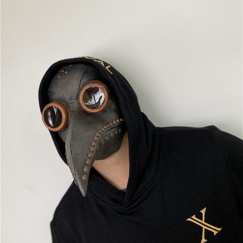 <พร้อมส่ง>หน้ากากอบไอน้ำพังก์ยุคกลางโรคระบาดหน้ากากป้องกันcosแพทย์อีกาหน้ากากยาวจะงอยปากหน้ากากหมวก 3AE1