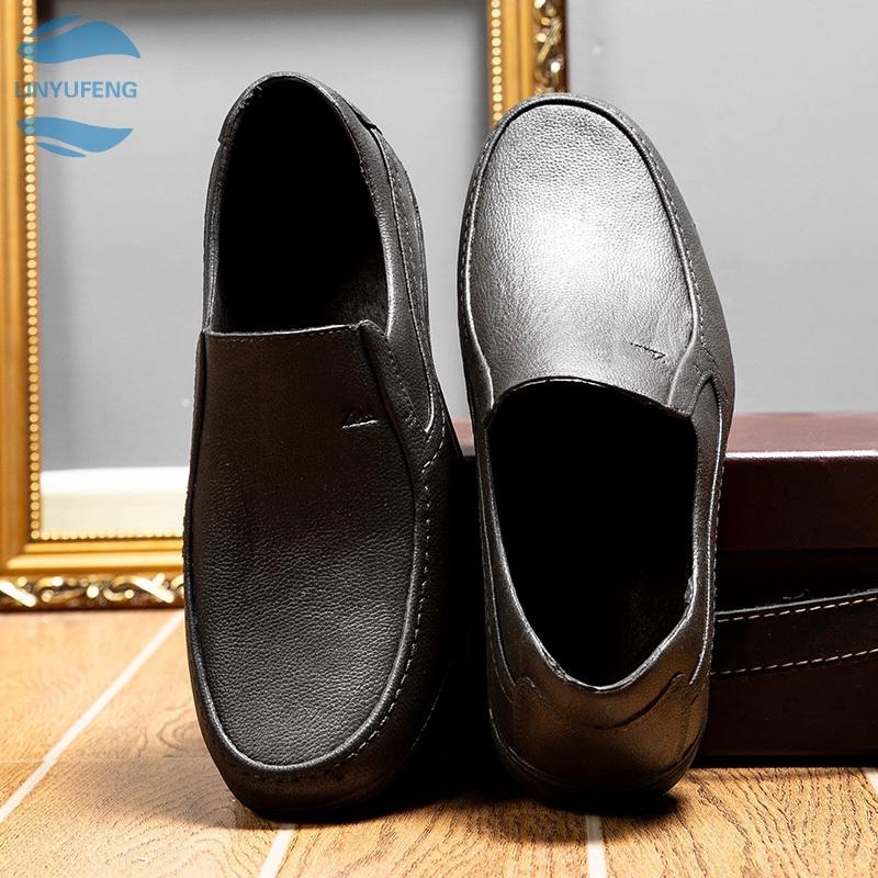 LYF➡ รองเท้าคัชชู loafer รองเท้าหนังแท้ รองเท้าหนังแฟชั่น รองเท้า รองเท้าหนังแบบผูกเชือกรองเท้าโลฟเฟอร์ ผู้ชาย 05