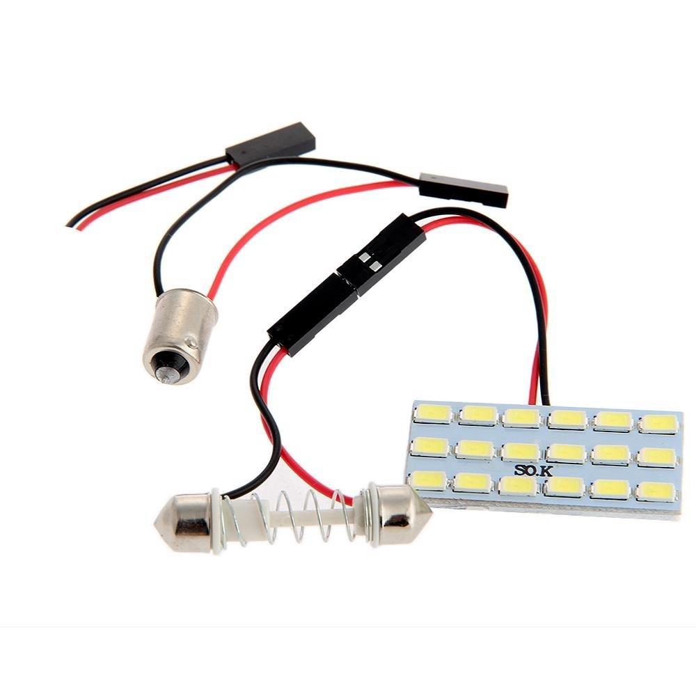 แผงไฟ Led สีขาว + หลอดไฟรถยนต์ T 10 / Ba9S Car 12v 3020 Smd 22 & 18 5630 Smd 2w
