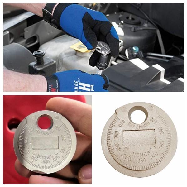 Spark Plug Gap Gauge Tool Measurement Coin-Type 0.6-2.4mm Range Spark Plug Gage
