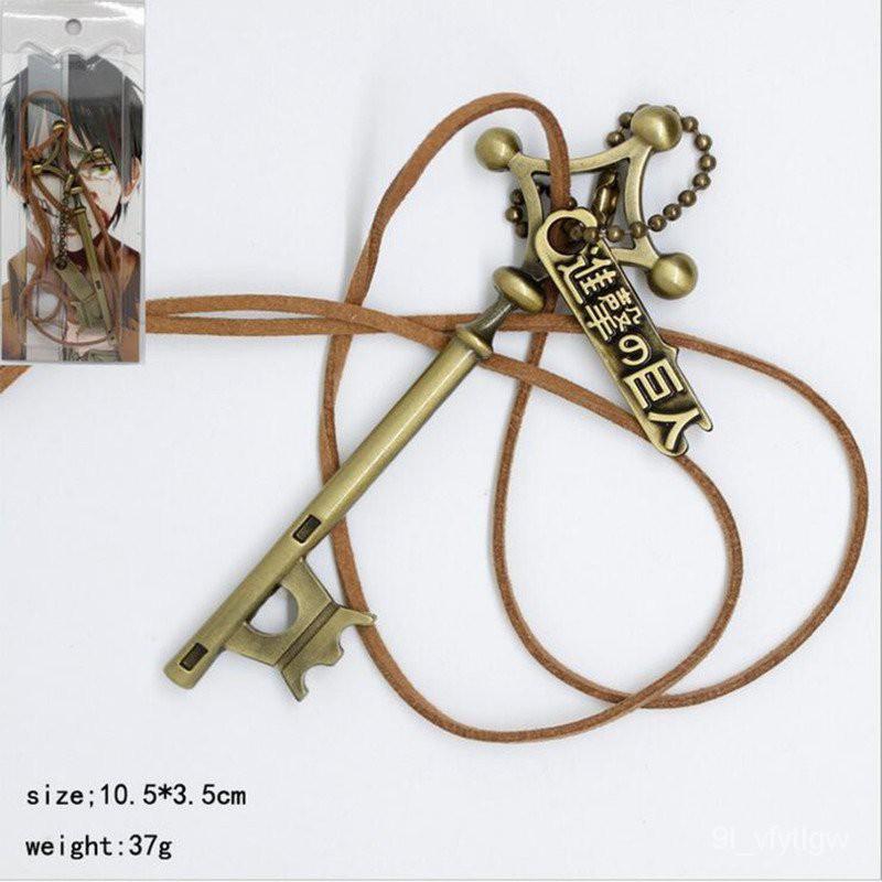 Attack on Titan Eren password cosplay pendant Necklace Shingeki no Kyojin Anime Rope Chain Necklace White Enamel Game Ch