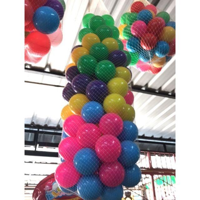 บอลหลากสี 100 ลูก ขนาด 2.8 นิ้ว.